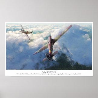 "Aviation Art Poster ""Focke-Wulf Ta 152"""