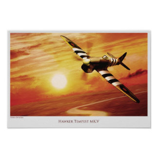 "Aviation Art Poster ""Hawker Tempest MK.V """