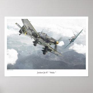"Aviation Art Poster ""Junkers Ju 87 Stuka """