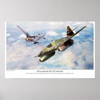 """Aviation Art Poster """"Messerschmitt Me 262 """""""