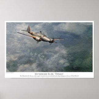 "Aviation art Poster Mitsubishi Ki-46 ""Dinah """