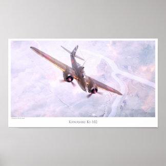 """Aviation Art Poster """"Nakajima Ki-102 """""""