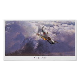 """Aviation Art Poster """"Nakajima Ki-87 """""""