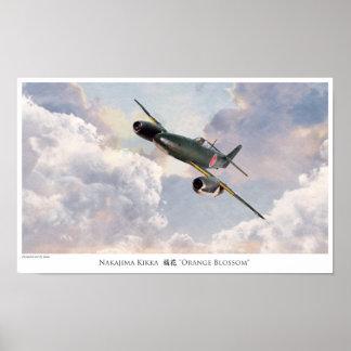 """Aviation Art Poster """"Nakajima Kikka """""""