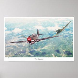 "Aviation Art Poster ""P-40 Warhawk"""