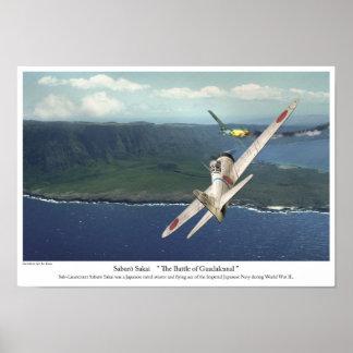 "Aviation Art Poster ""Samurai Saburo Sakai"""