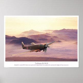 """Aviation Art Poster """"Tachikawa Ki-94-II"""""""