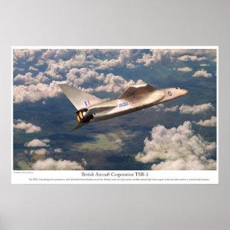 """Aviation Art Poster """"TSR-2"""""""