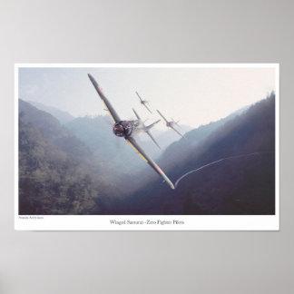 "Aviation Art Poster ""Winged Samurai -Zero Fighter"""