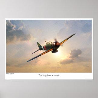 "Aviation Art Poster ""ZERO FIGHTER"""