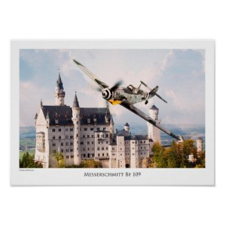 "Aviation Art T-shirt ""Messerschmitt Bf 109"