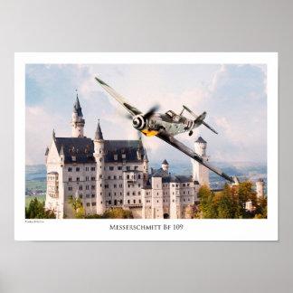 """Aviation Art T-shirt """"Messerschmitt Bf 109 """" Poster"""