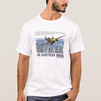 "Aviation Art T-shirt ""P-40 Aleutian Tiger """