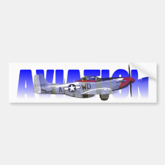 Aviation Car Bumper Sticker