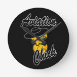 Aviation Chick #4 Wallclocks
