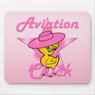 Aviation Chick #8 Mouse Pad