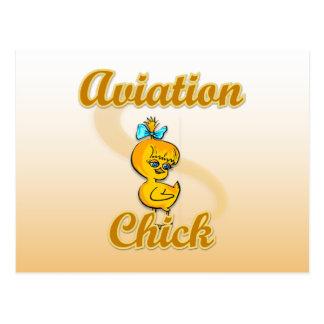 Aviation Chick Postcard