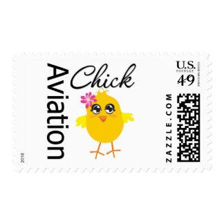 Aviation Chick Stamp