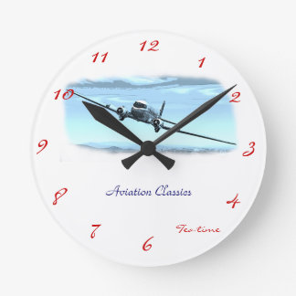 Aviation Classics Round Clocks
