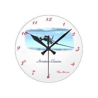 Aviation Classics Round Clock