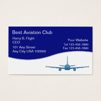 Aviation business cards templates zazzle aviation club business cards yadclub