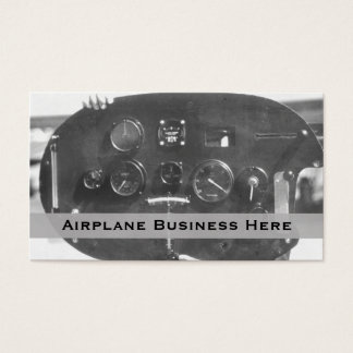 Aviation Control Panel Business Card