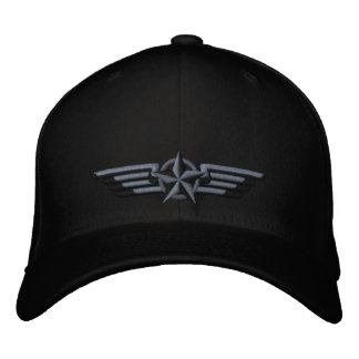 Aviation Embroidered Star Badge Pilot Wings Embroidered Baseball Hat