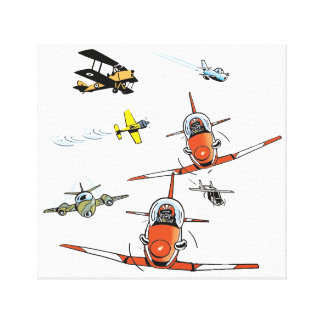 Aviation Fan Plane Art Wrapped Canvas Stretched Canvas Print