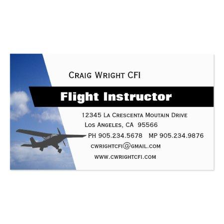 Aviation CFI Pilot Training Certified Flight Instructor Business Cards