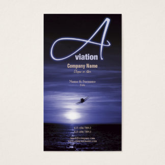 Aviation flying business marketing business card