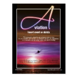 Aviation flying business marketing post card