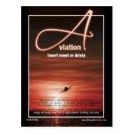 Aviation flying business marketing postcard