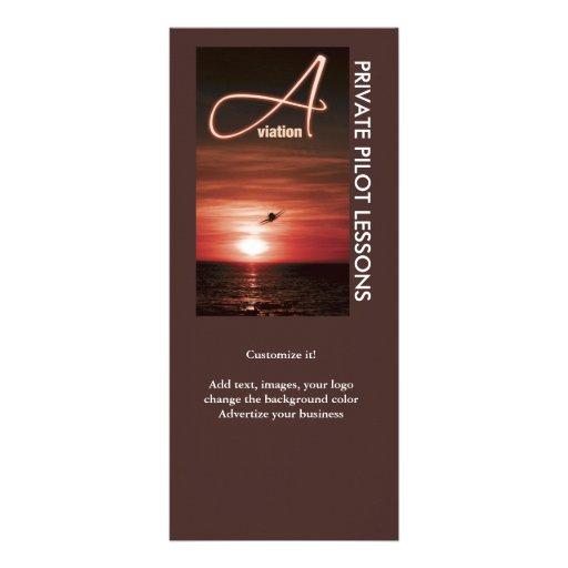 Aviation flying business marketing rack cards