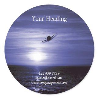 Aviation flying business marketing sticker