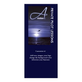 Aviation flying pilots business marketing rackcard