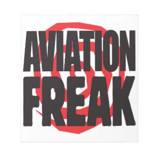 Aviation Freak Memo Pad