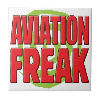 Aviation Freak R Ceramic Tile