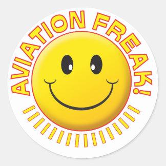 Aviation Freak Smile Round Stickers