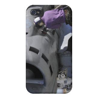 Aviation fuel technician aches a fuel line iPhone 4/4S cases