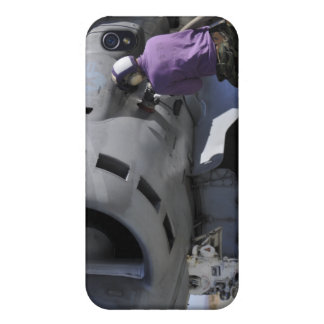 Aviation fuel technician aches a fuel line iPhone 4 covers