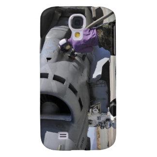 Aviation fuel technician attaches a fuel line samsung galaxy s4 case