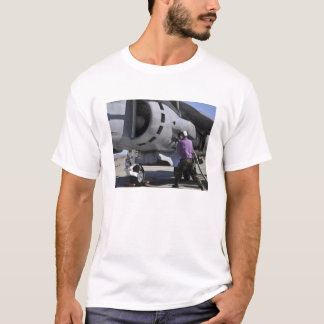 Aviation fuel technician attaches a fuel line T-Shirt