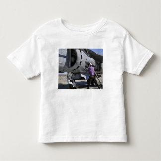 Aviation fuel technician attaches a fuel line toddler t-shirt