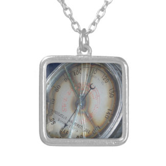 Aviation Gauge Silver Plated Necklace