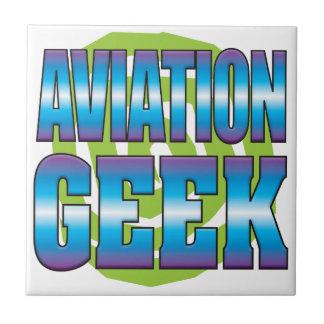 Aviation Geek v3 Ceramic Tile