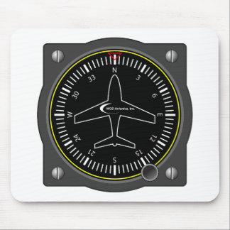 Aviation Heading Gauge Mouse Pad