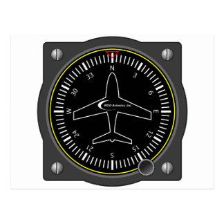 Aviation Heading Gauge Postcard