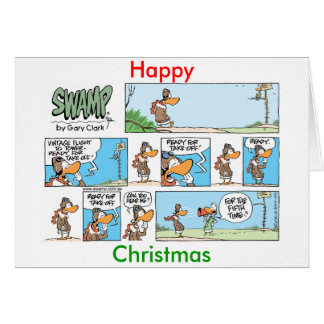 Aviation Humor Cartoon Christmas Card