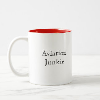 Aviation Junkie Two-Tone Coffee Mug