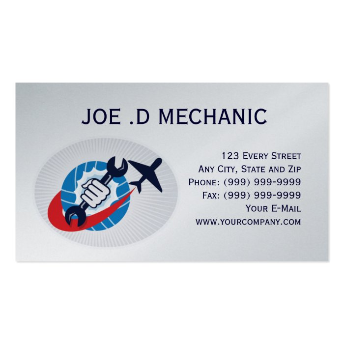 Aviation maintenance mechanic business card zazzle for Www aviationbusinesscards com
